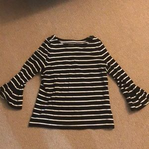 Kate Spade Broome Street Striped ruffle shirt